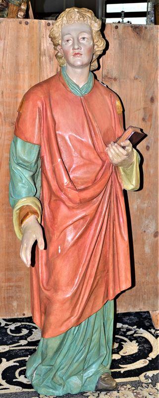 0576-Große Kirchenfigur Schnitzfigur Heiliger Laurentius